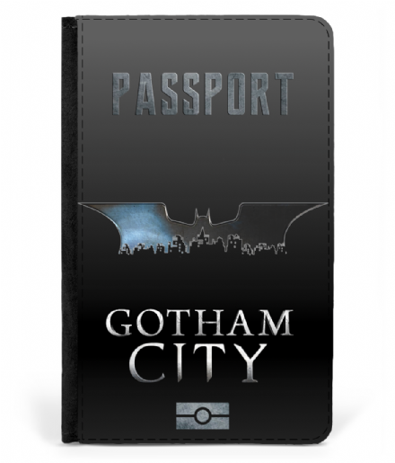 Gotham City Faux Leather Passport Cover Inspired by Batman